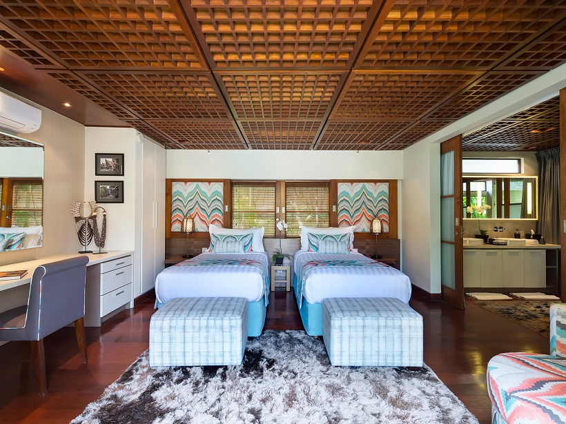Villa Windu Sari   Guest bedroom one with beds as twins