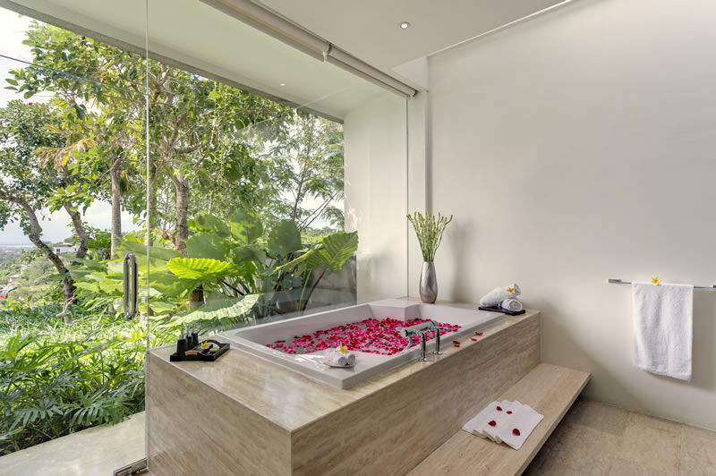 Villa Aiko   Guest Bathroom with View